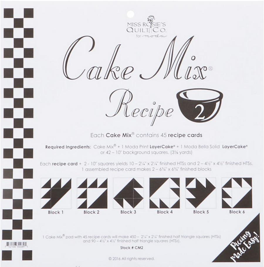 Cake Mix Recipe 2 44ct - CM2 Miss Rosie#1