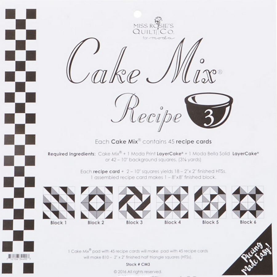 Cake Mix Recipe 3 44ct - CM3 Miss Rosie#1
