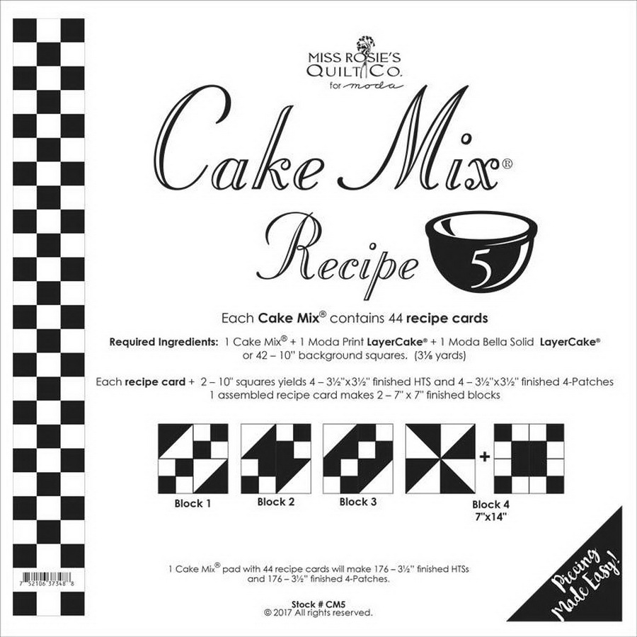 Cake Mix Recipe 5 44ct - CM5 Miss Rosie#1