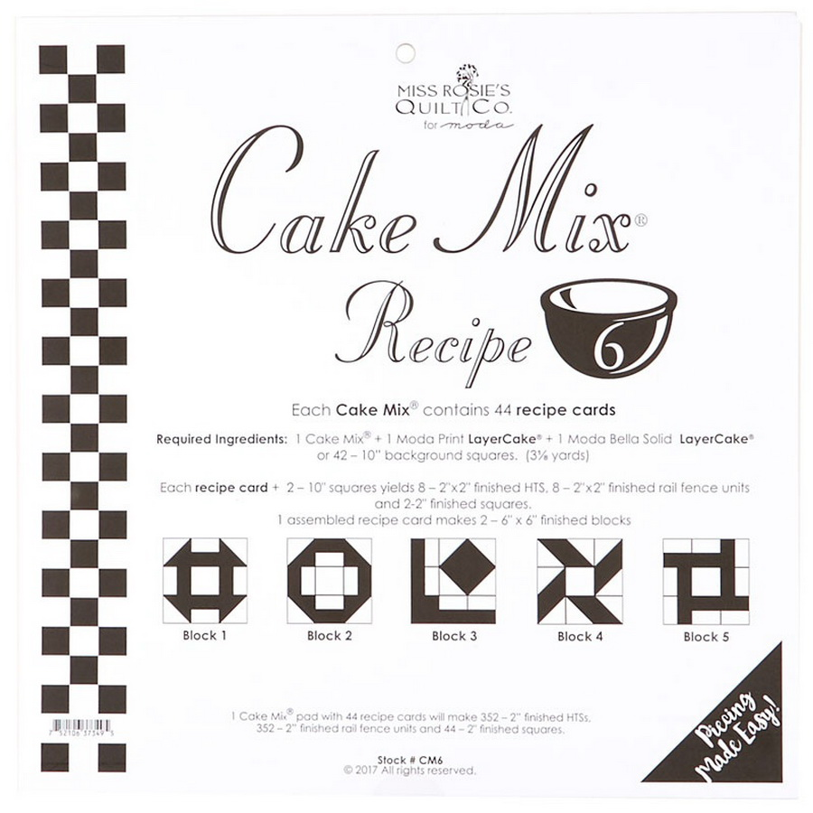 Cake Mix Recipe 6 44ct - CM6 Miss Rosie#1