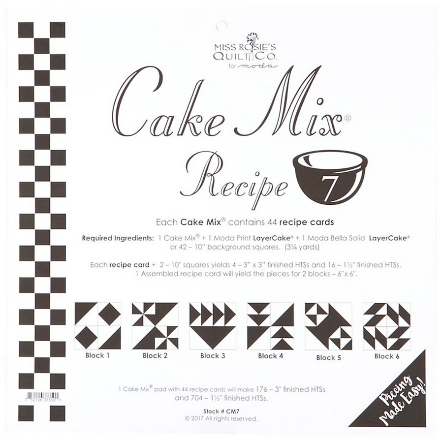 Cake Mix Recipe 7 44ct - CM7 Miss Rosie#1