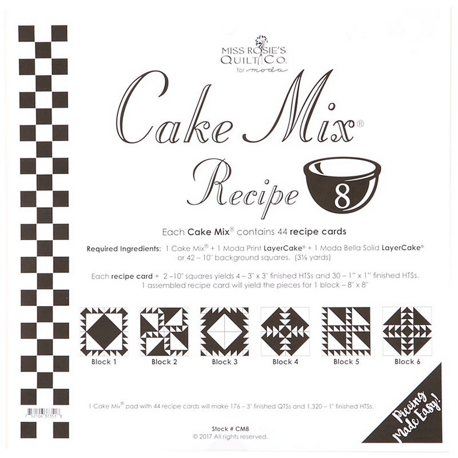 Cake Mix Recipe 8 44ct - CM8 Miss Rosie#1