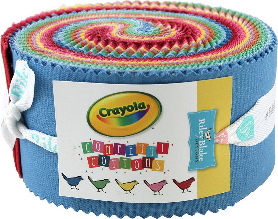 Confetti Cottons Vintage Crayola Rolie Polie 40 2.5-inch Strips
