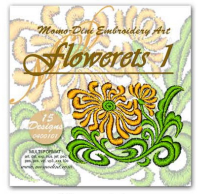 Momo-Dini Embroidery Designs - Flowerets 1 (0400101)