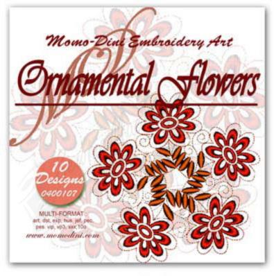 Momo-Dini Embroidery Designs - Ornamental Flowers (0400107)