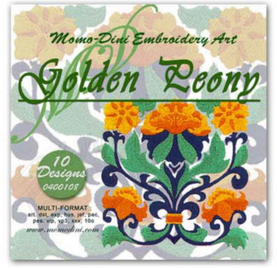 Momo-Dini Embroidery Designs - Golden Peony (0400108)