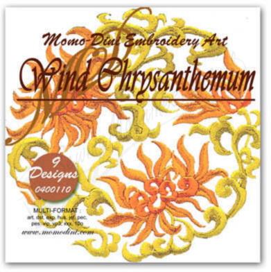 Momo-Dini Embroidery Designs - Wind Chrysanthemum (0400110)