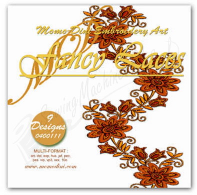 Momo-Dini Embroidery Designs - Fancy Laces (0400111)