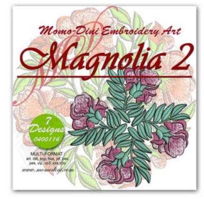 Momo-Dini Embroidery Designs - Magnolia 2 (0400114)