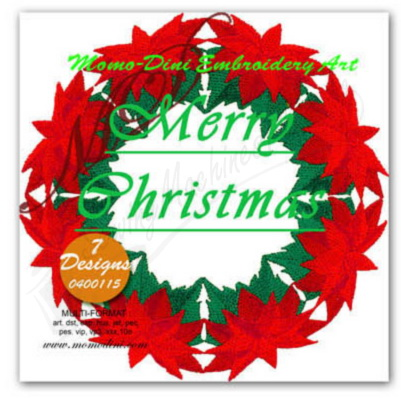 Momo-Dini Embroidery Designs - Merry Christmas (0400115)