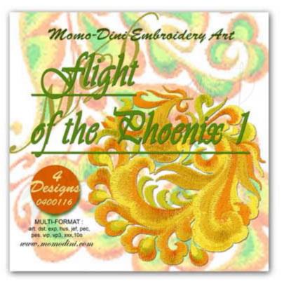 Momo-Dini Embroidery Designs - Flight of the Phoenix 1 (0400116)