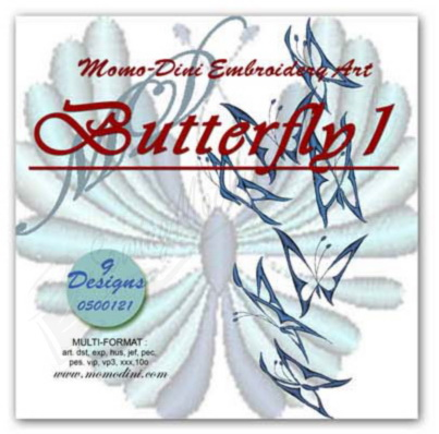 Momo-Dini Embroidery Designs - Butterfly 1 (0400121)