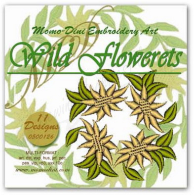 Momo-Dini Embroidery Designs - Wild Flowerets (0500126)
