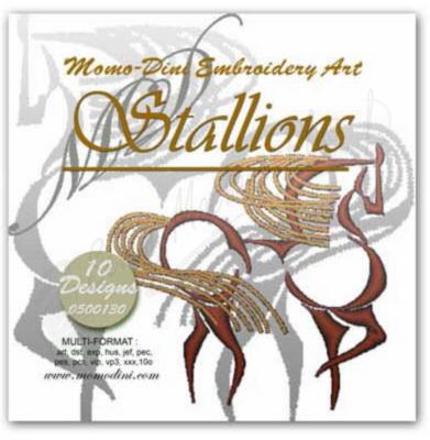 Momo-Dini Embroidery Designs - Stallions (0500130)