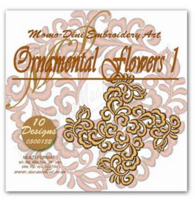Momo-Dini Embroidery Designs - Ornamental Flowers 1 (0500132)