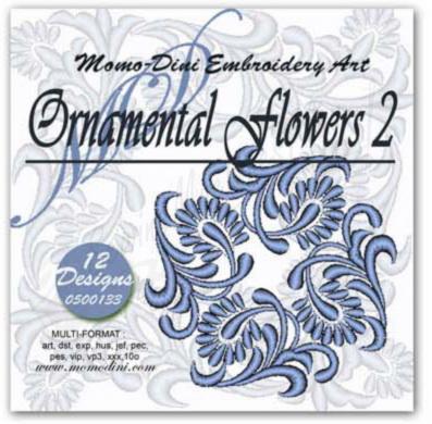 Momo-Dini Embroidery Designs - Ornamental Flowers 2 (0500133)
