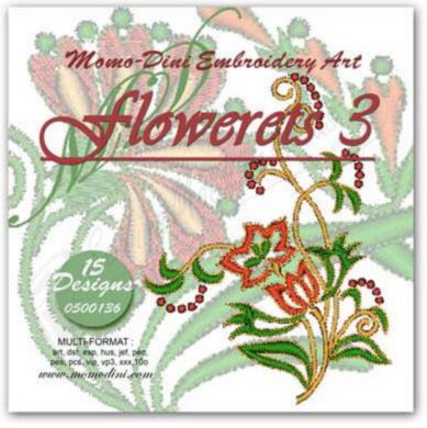 Momo-Dini Embroidery Designs - Flowerets 3 (0500136)