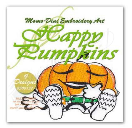 Momo-Dini Embroidery Designs - Happy Pumpkins (0500137)