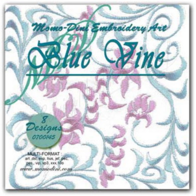 Momo-Dini Embroidery Designs - Blue Vine (0700145)
