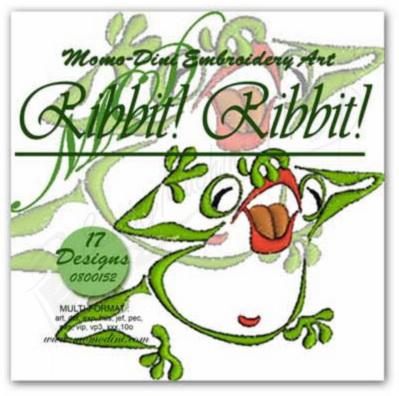 Momo-Dini Embroidery Designs - Ribbit! Ribbit! (0800152)