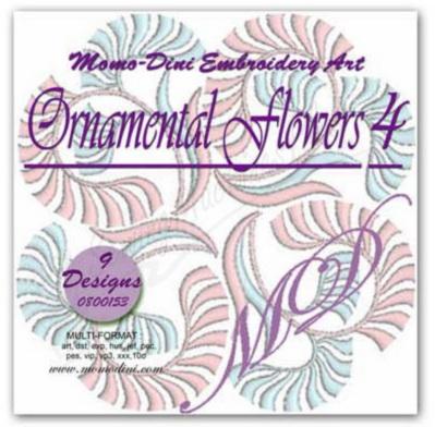 Momo-Dini Embroidery Designs - Ornamental Flowers 3 (0800153)