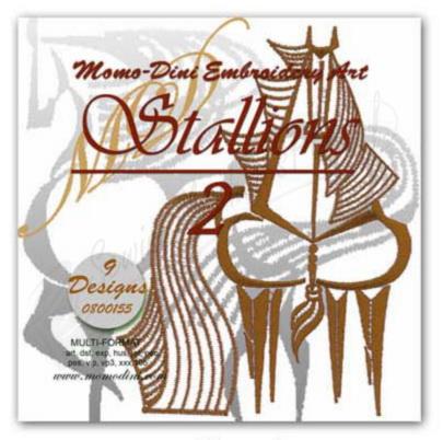 Momo-Dini Embroidery Designs - Stallions 2 (0800155)