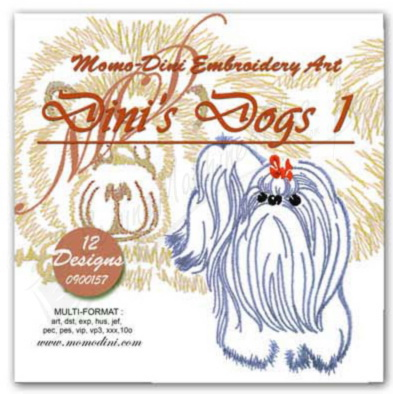 Momo-Dini Embroidery Designs - Dinis Dogs (0900157)