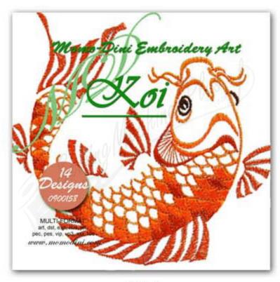 Momo-Dini Embroidery Designs - Koi (0900158)