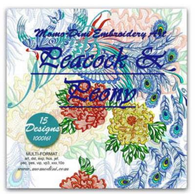Momo-Dini Embroidery Designs - Peacock & Peony (1000161)