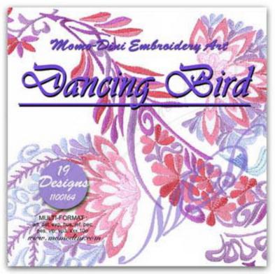 Momo-Dini Embroidery Designs - Dancing Birds (1000164)