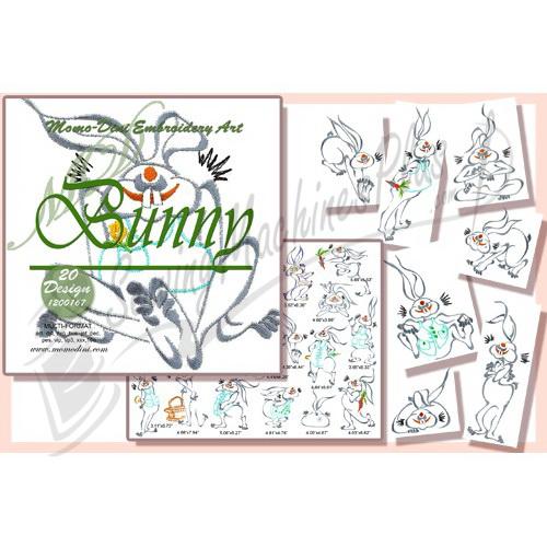 Momo-Dini Embroidery Designs - Bunny (1200167)