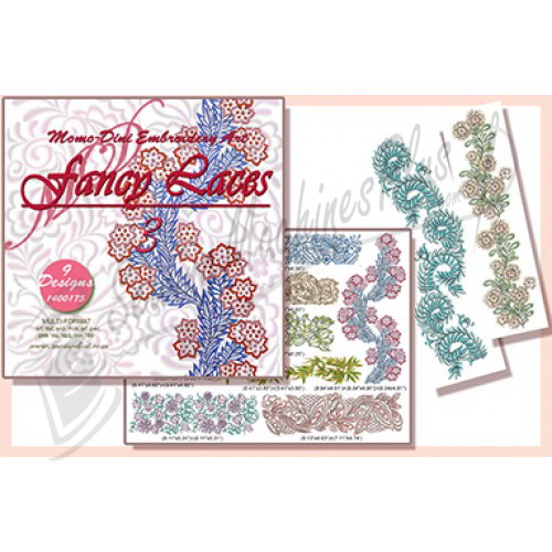 Momo-Dini Embroidery Designs -  Fancy Laces 3 (1400175)