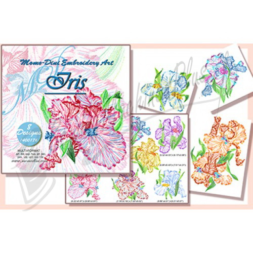 Momo-Dini Embroidery Designs - Iris (1400176)