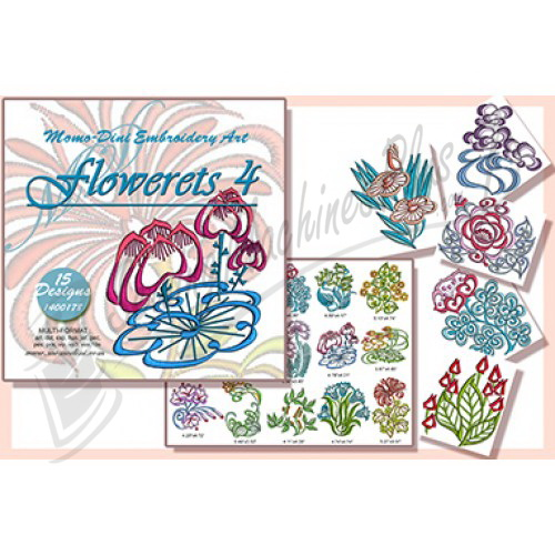 Momo-Dini Embroidery Designs - Flowerets 4 (1400178)