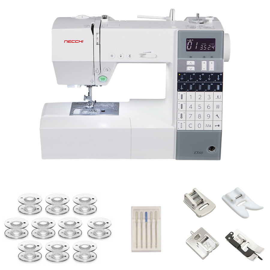 Necchi EX60 Sewing Machine With a Free Accessories Bundle