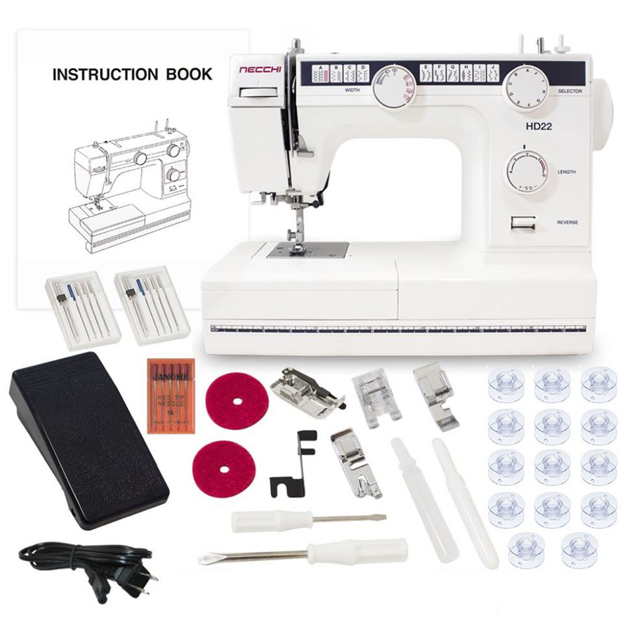 Necchi HD22 Heavy Duty Sewing Machine With a Free Accessories Bundle