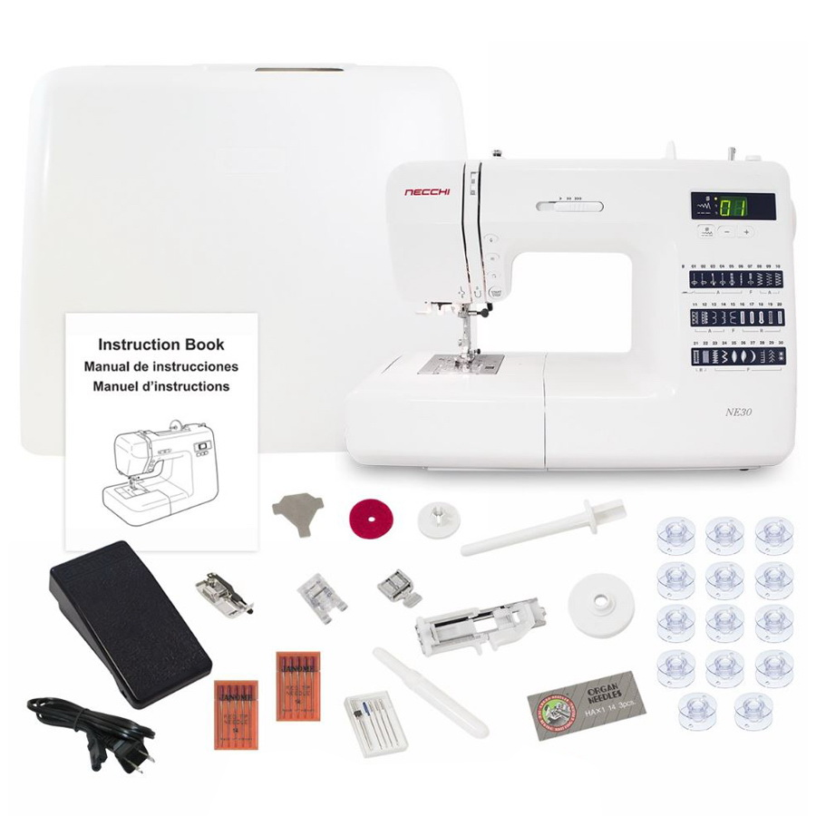 Necchi NE30 Computerized Sewing Machine With A Free Accessories Bundle