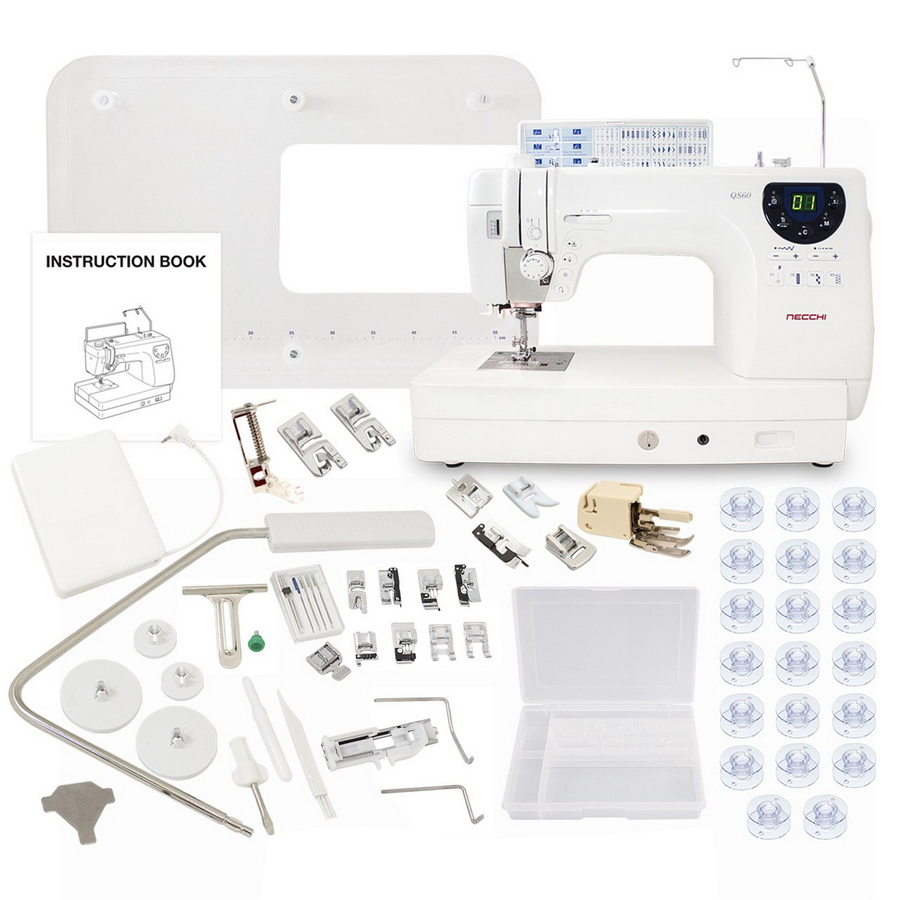 Necchi QS60 Sewing and Quilting Machine With a Free Accessories Bundle