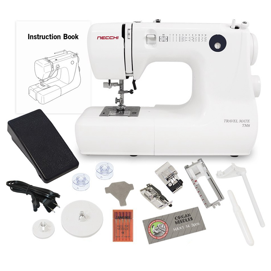 Necchi TM8 12lb Sewing Machine With a Free Accessories Bundle