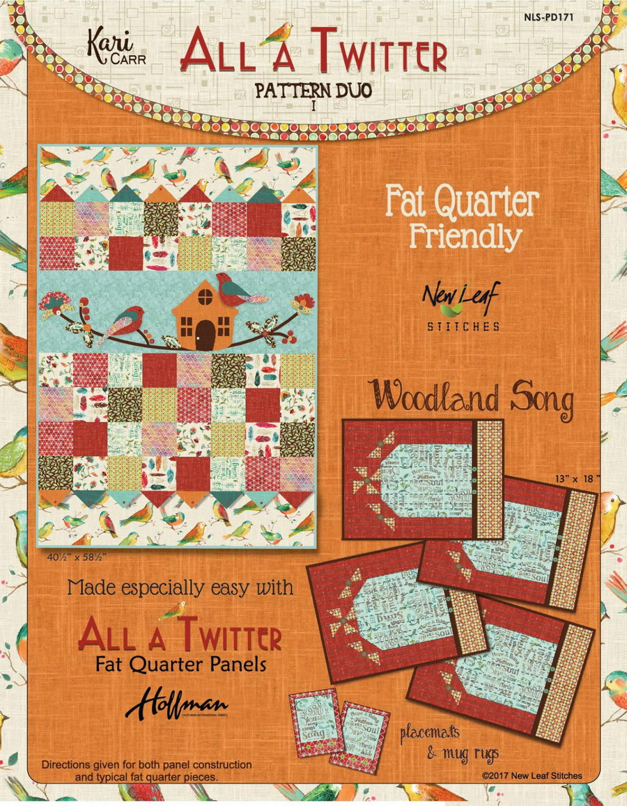 New Leaf Stitches - All a Twitter Woodland Song Fabric Kit by Kari Carr