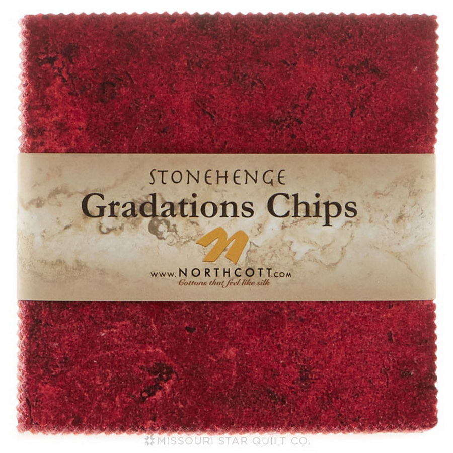 Stonehenge Gradations Brights - 5 inch Squares 42 Pieces