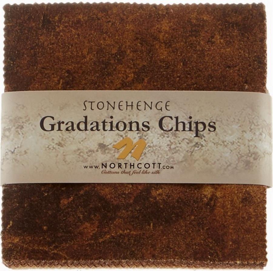Stonehenge Gradations Iron Ore Designed by Linda Ludovico - 5 inch Squares 42 Pieces