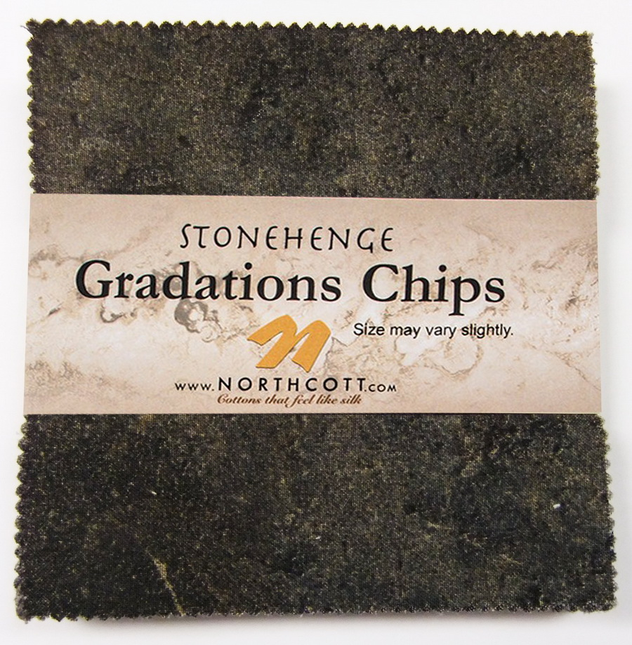 Stonehenge Gradations Brights Slate Chips - 5 inch Squares 42 Pieces