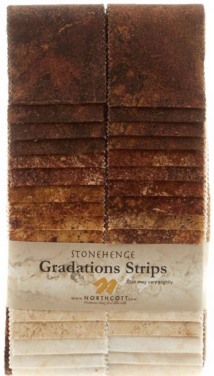 Stonehenge Gradations Brights Iron Ore - 2.5 inch wide Strips 40 Pieces