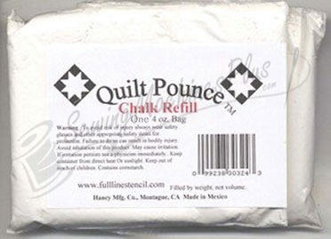Quilt Pounce Chalk One 4oz. WHITE Chalk Refill (chk8w)