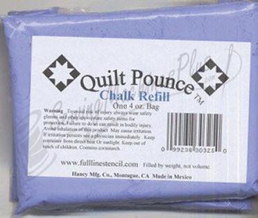 Quilt Pounce Chalk One 4oz. BLUE Chalk Refill (CHK8B)