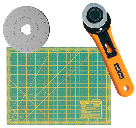 Olfa 45mm Rotary Cutter/ 5pack blades/ 18
