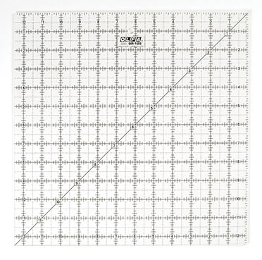 OLFA 12 1/2 inch x 12 1/2 inch Square Frosted Ruler (OQR12S)