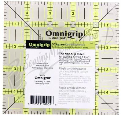 Omnigrid 5 Inch Omnigrip Non-Slip Ruler