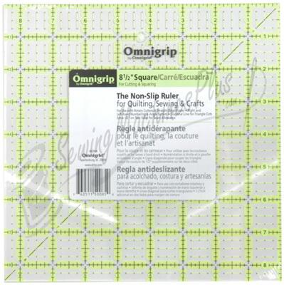 Omnigrid 8 1/2 inch Neon Square Omnigrip Ruler